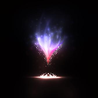 Ilustrações criativas, dinâmicas e mágicas de fogo.