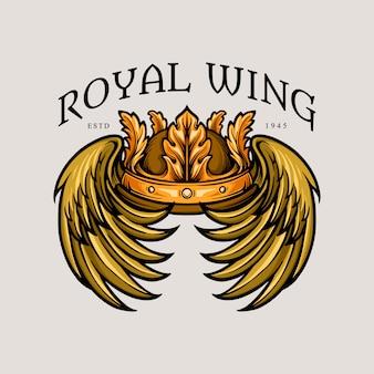 Ilustrações da asa real da coroa
