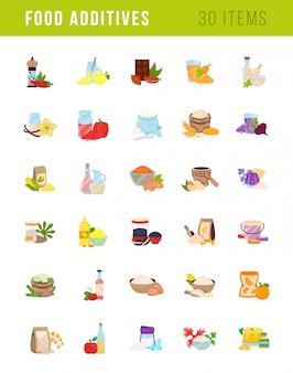Ilustrações de aditivos alimentares
