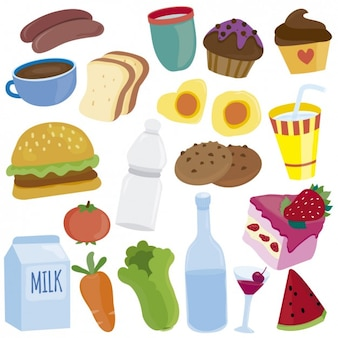 Ilustrações de alimentos
