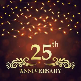 Ilustrações de aniversário de casamento do royal 25 de luxo