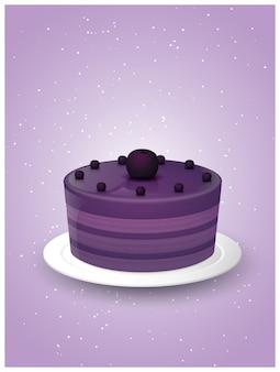 Ilustrações de bolo doce delicioso