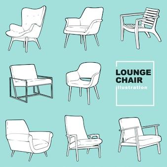Ilustrações de cadeira de salão