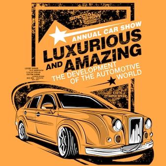 Ilustrações de carros super luxuosas e incríveis