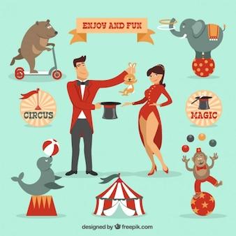 Ilustrações de circo