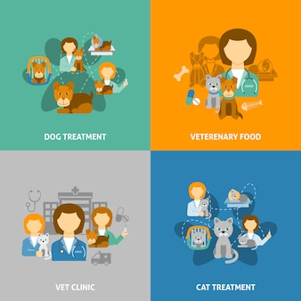 Ilustrações de clínica veterinária