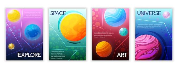 Ilustrações de conjunto de espaço