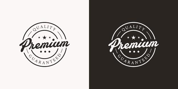 Ilustrações de design de carimbo de logotipo premium