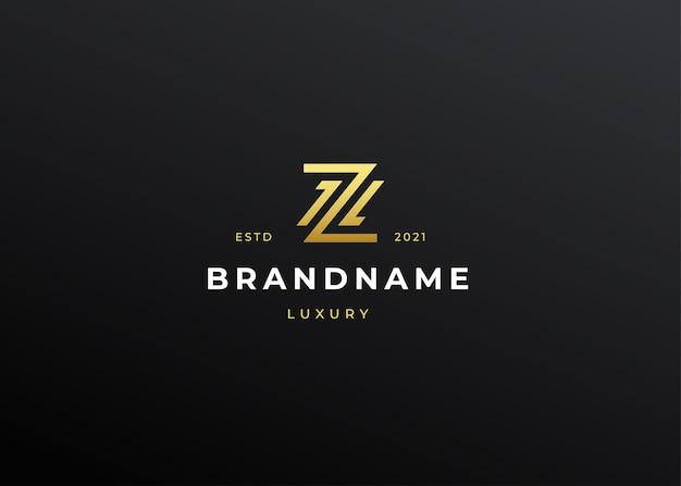 Ilustrações de design do logotipo z com letras de luxo premium