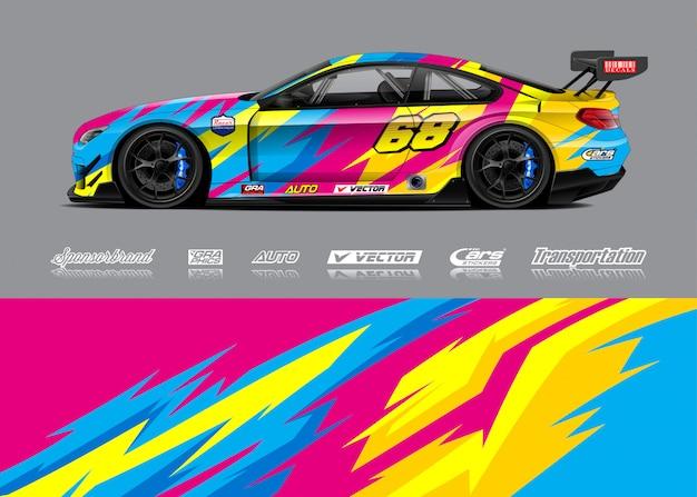 Ilustrações de envoltório de carro de corrida