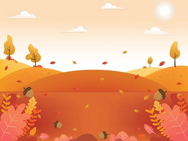 Ilustrações de fundo outono