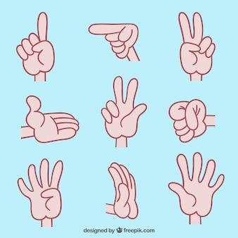 Ilustrações de língua de sinais