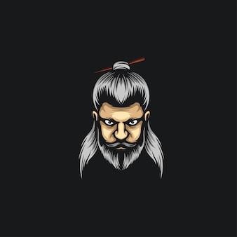 Ilustrações de logotipo de homem de pão