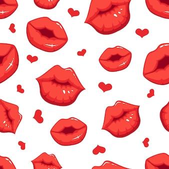 Ilustrações de maquiagem no estilo cartoon. bela sorridente sexy lábios femininos