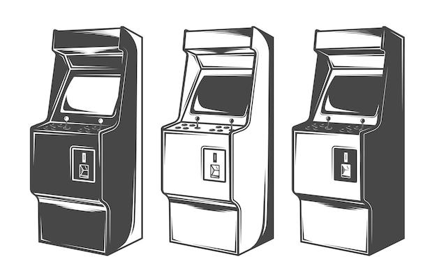 Ilustrações de máquinas de fliperama