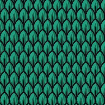 Ilustrações de padrão de folha verde fresco