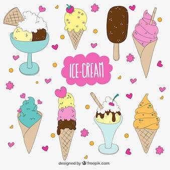 Ilustrações de sorvete