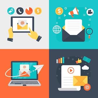 Ilustrações de vetor de email marketing