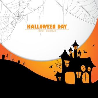 Ilustrações de vetor de projeto de fundo de halloween