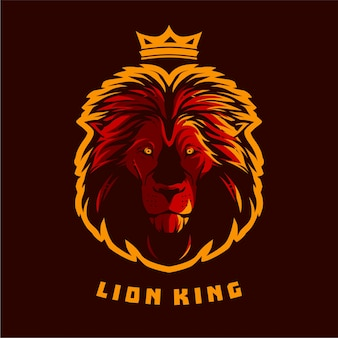 Ilustrações de vetor de rei leão