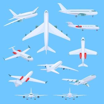 Ilustrações de voo de avião