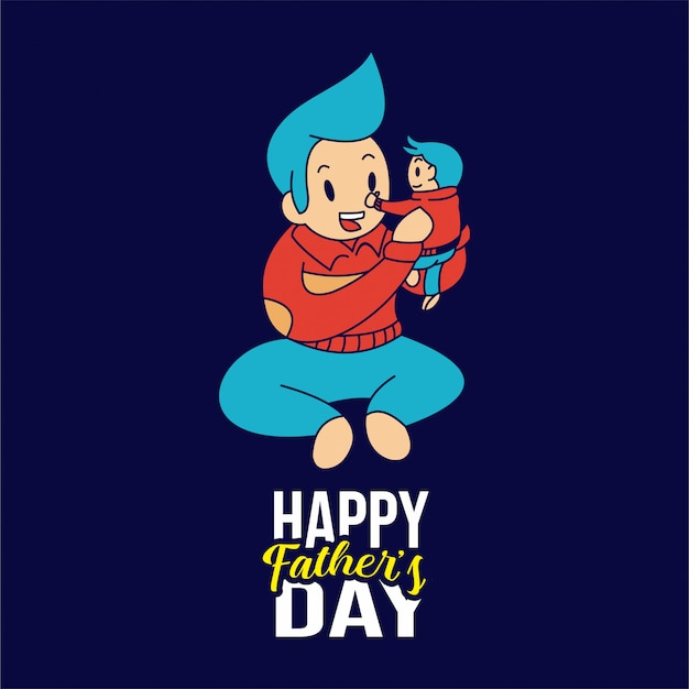 Ilustrações do dia dos pais feliz