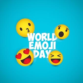 Ilustrações do dia mundial do emoji.