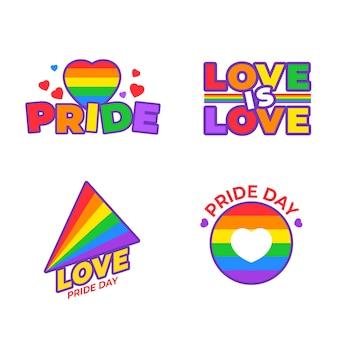 Ilustrações emblemas do dia do orgulho
