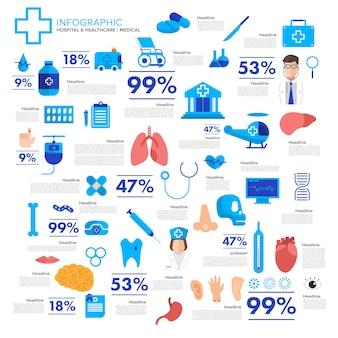Ilustrações médicas e saudáveis vector conceito