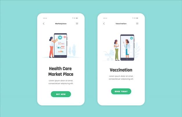 Ilustrações médicas para aplicativos móveis