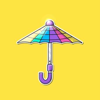Ilustrações vetoriais de guarda-chuva colorida