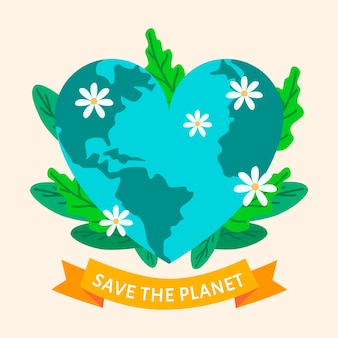 Ilustrado salvar o planeta worldwilde