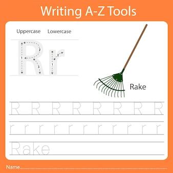 Ilustrador da escrita az tools r