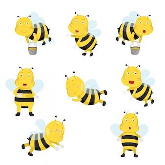 Ilustrador de abelhas engraçado dos desenhos animados