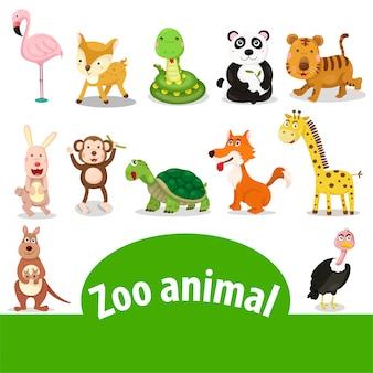 Ilustrador, de, animal jardim zoológico