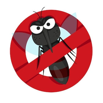 Ilustrador de anti mosquitos