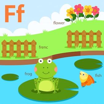 Ilustrador, de, az, jogo, para, f, isolado