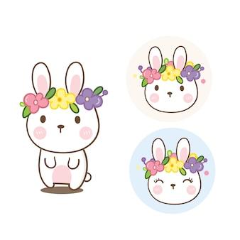 Ilustrador de desenho animado de coelho