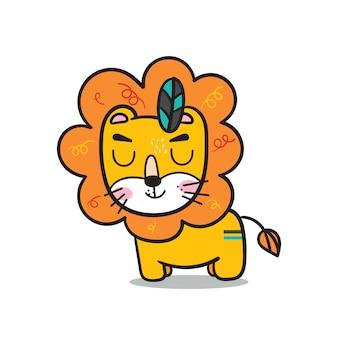 Ilustrador de desenho animado de leão