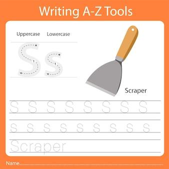 Ilustrador de escrever az tools s