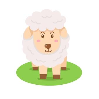 Ilustrador de fazenda de animais ovinos