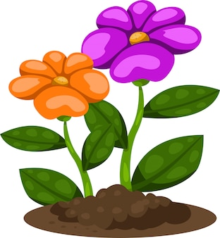 Ilustrador de flor no jardim