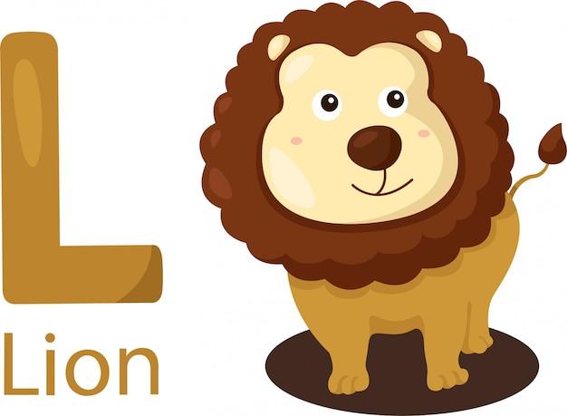 Ilustrador de l com leão