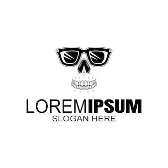 Ilustrador de logotipo de óculos, isolado, fácil de editar
