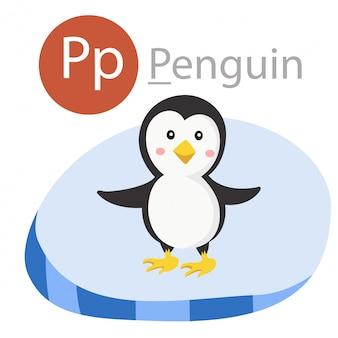 Ilustrador de p para animal pinguim