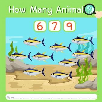 Ilustrador de quantos animais seis