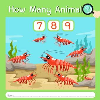 Ilustrador de quantos animais três