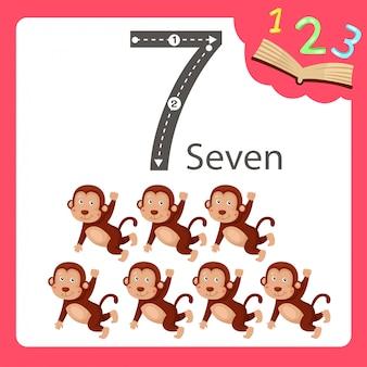 Ilustrador de sete animais