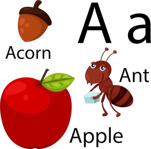 Ilustrador de um alfabeto