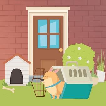 Ilustrador de vetor de desenho de cão dos desenhos animados